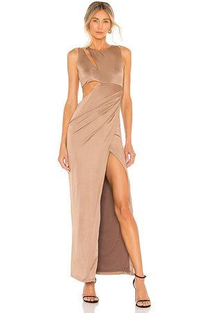 NBD Keara Gown in - Brown. Size L (also in M, S, XL, XS, XXS).