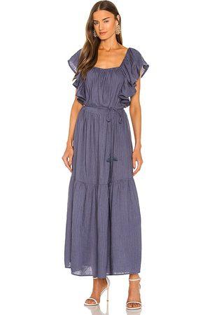 ELLIATT Eloise Maxi Dress in - Blue. Size L (also in XS, S, M).