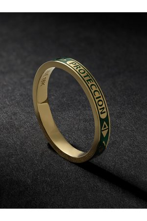 Foundrae 18-Karat Gold and Enamel Ring