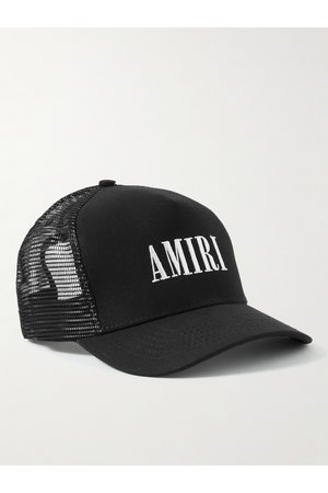 AMIRI Logo-Embroidered Cotton-Canvas and Mesh Trucker Hat