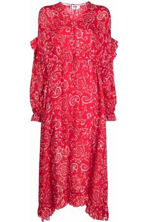 MSGM Senhora Vestidos Casual - Geometric pattern maxi dress