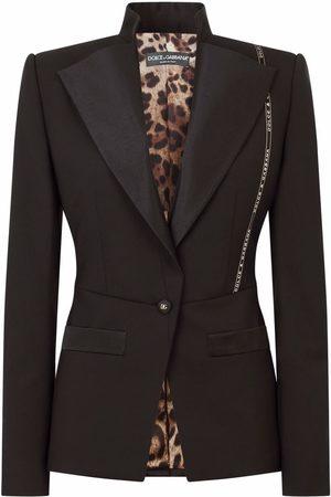 Dolce & Gabbana Senhora Blazers - Logo tape detail blazer