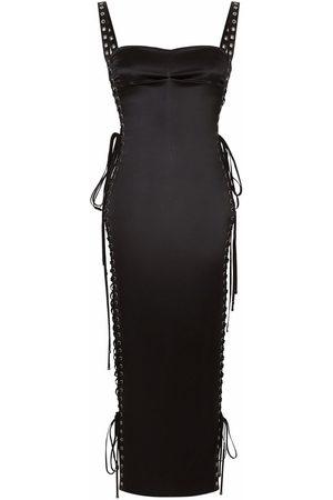 Dolce & Gabbana Senhora Vestidos de Festa - Side lace-up detail fitted dress
