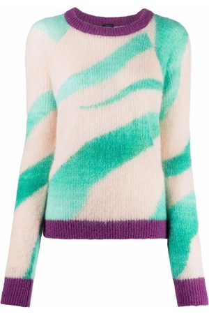 Pinko Abstract-pattern knitted sweater