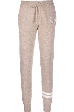 Dee Ocleppo Senhora Calças - Tapered cashmere track trousers