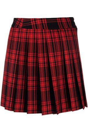 P.A.R.O.S.H. Tartan-check pleated skirt