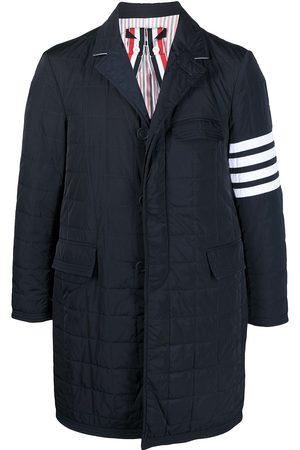 Thom Browne 4-Bar motif padded tailored coat