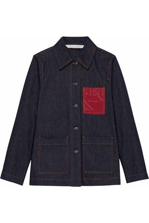Palm Angels Senhora Blusões de Ganga - Bandana Pocket workwear denim jacket