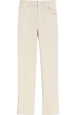 Off-White Slit-detail high-rise jeans