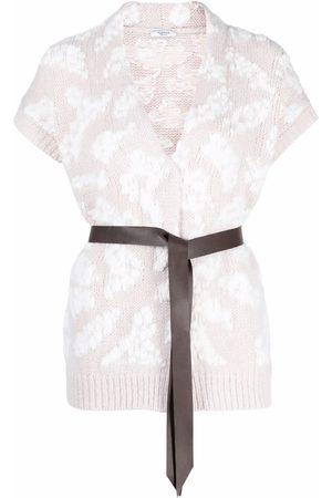 Peserico Senhora Tops de Cavas - Tied-waist knitted top