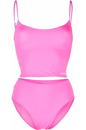 Balenciaga Senhora Bikinis - Logo-print tankini