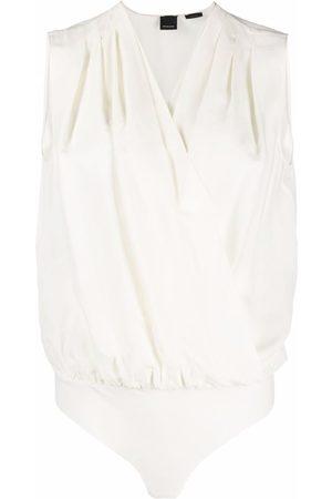 Pinko Senhora Bodies interiores - Sleeveless wrap-front bodysuit
