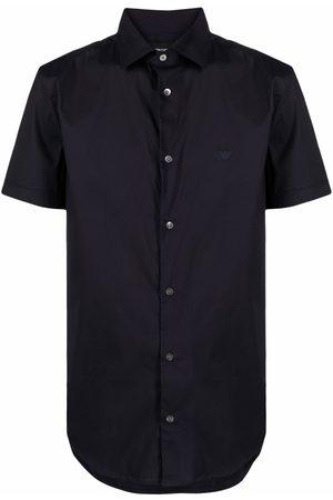 Emporio Armani Homem Manga curta - Logo-embroidered short-sleeved shirt