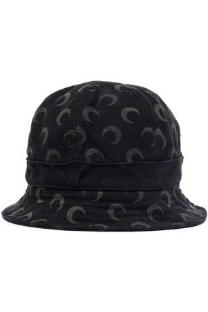Marine Serre Senhora Chapéus - Crescent-moon print bucket hat