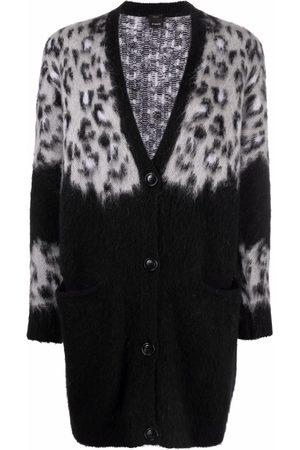 Pinko Senhora Camisolas - Leopard-print V-neck cardigan