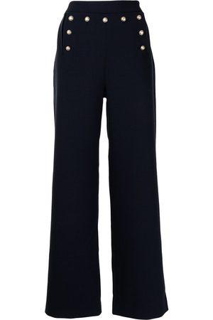 Ports V High-waisted wide-leg trousers
