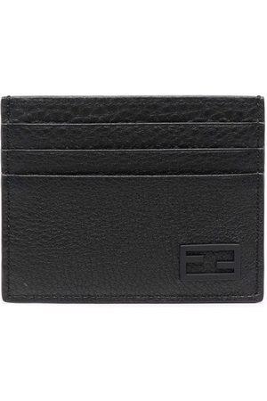 Fendi FF textured-leather cardholder