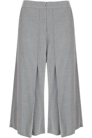 Alcaçuz Senhora Calças à Boca-de-sino - Seletor cropped wide-leg trousers