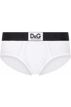 Dolce & Gabbana Homem Boxers - Logo-waistband stretch briefs