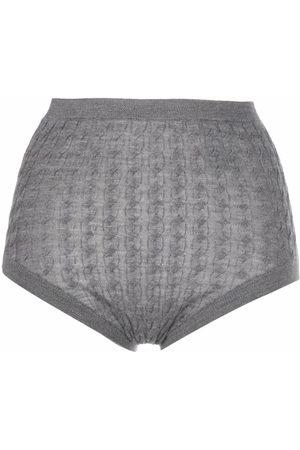 Totême Senhora Cuecas - Cable-knit briefs