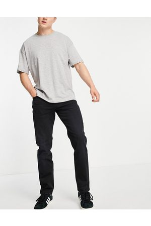 SELECTED Homem Retos - Organic cotton blend straight fit jeans in black