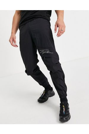 Topman Signature relaxed cargo with stitch detail in black