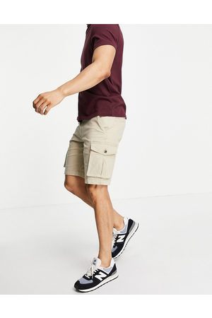 SELECTED Organic cotton cargo short in beige-Neutral