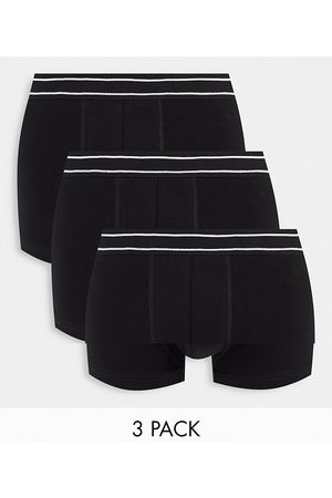 New Look 3 pack boxer with stripe waistband in black