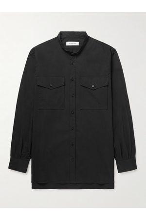 Applied Art Forms Homem Casual - PM1-1 Grandad-Collar Cotton Shirt