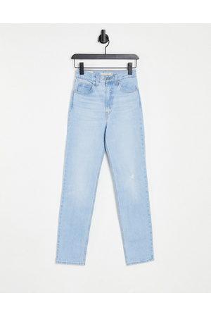 Levis Levi's 70's straight leg jeans in light wash-Blue