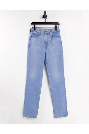 Levis Senhora Retos - Levi's 70's straight leg jeans in mid wash-Blue