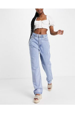Cotton On Senhora Retos - Relaxed straight leg jeans in mid wash blue