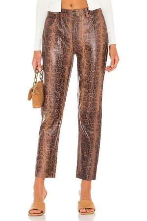 ONE TEASPOON Leather Trucker Pants in - Brown. Size L (also in M, S, XL, XS).