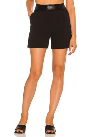 Milly Rebecca Cady & Leather Shorts in - . Size 0 (also in 10, 2, 4, 6, 8).