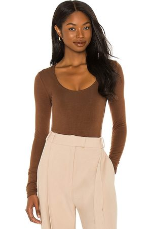 RE ONA Scoop Neck Long Sleeve Bodysuit in - . Size L (also in M, S, XS).