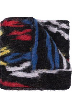 Saint Laurent Homem Cachecóis & Echarpes - Logo-patch wool scarf