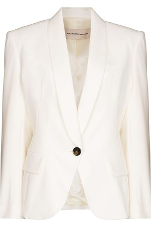 Alexandre Vauthier Padded-shoulder single-breasted blazer