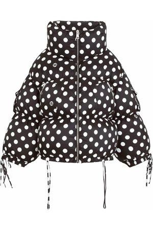 Dolce & Gabbana Senhora Parkas - Polkda dot puffer coat