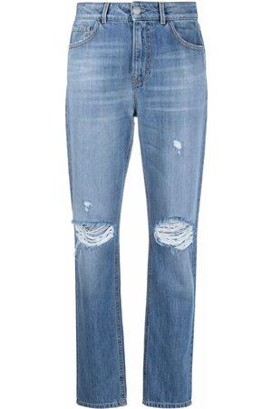 Pinko Senhora Skinny - Ripped-detail slim-fit jeans