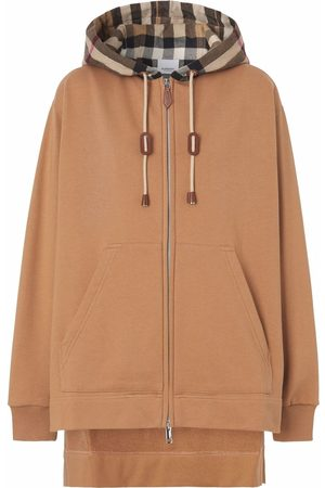 Burberry Senhora Tops de Cavas - Check-panel hoodie