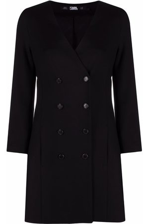 Karl Lagerfeld Senhora Vestidos Casual - Double-breasted V-neck dress