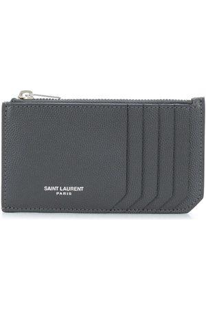 Saint Laurent Homem Bolsas & Carteiras - Zip-fastened leather cardholder