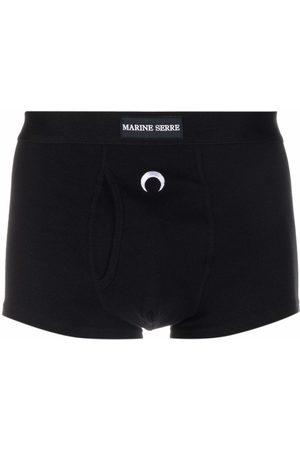 Marine Serre Homem Boxers - Logo-embroidered boxers