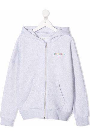 Palm Angels Logo-print zip-up hoodie