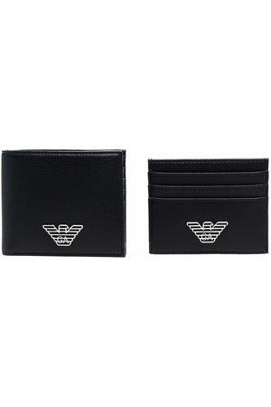 Emporio Armani Homem Bolsas & Carteiras - Logo-plaque wallet set