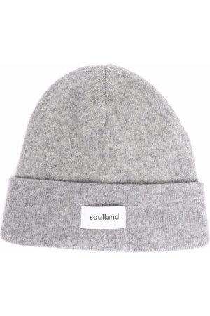 Soulland Villy logo-print beanie