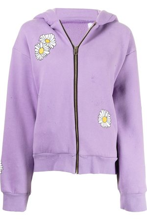 Natasha Zinko Senhora Tops de Cavas - Daisy-print stretch-cotton hoodie