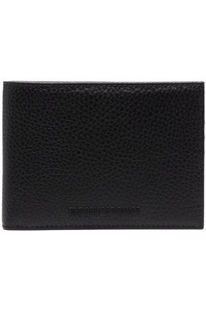 Emporio Armani Pebbled bi-fold wallet