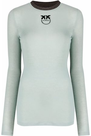Pinko Logo-print long-sleeve T-shirt