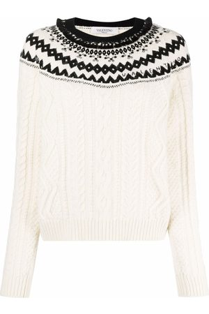 VALENTINO Foulard Archive cable-knit jumper